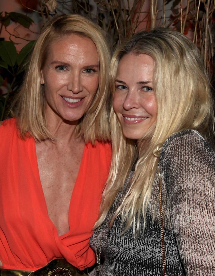 """Kelly Lynch and Chelsea Handler attend the Starz '<a target=""""_blank"""" href=""""http://tv.yahoo.com/magic-city/show/46996"""">Magic City</a>' Los Angeles after party at Chateau Marmont on March 20, 2012 in Los Angeles, California."""