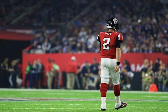 "<a class=""link rapid-noclick-resp"" href=""/nfl/players/8780/"" data-ylk=""slk:Matt Ryan"">Matt Ryan</a> channels his Super Bowl disappointment in a new Gatorade ad. (Getty Images)"