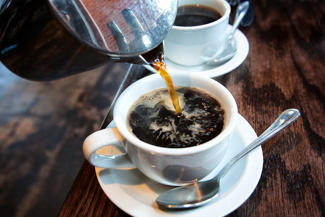 """<p>By now, you probably know that coffee can help curb your appetite. But did you also know it can boost your metabolism? Since coffee contains the antioxidant chlorogenic acid (CGA), it can actually increase your body's use of fat for energy. Research has additionally shown that CGA can slow the release of glucose and lower insulin resistance to inhibit weight gain after eating a meal.</p> <p><strong>RELATED: <a href=""""https://www.health.com/nutrition/hot-coffee-health-benefits"""">Why Hot Coffee Might Be Healthier Than Cold Brew</a></strong></p> <p><em><strong>To get our top stories delivered to your inbox, sign up for the <a href=""""https://pages.email.health.com/newsletters/"""">Healthy Living</a></strong></em><strong> newsletter</strong></p>"""