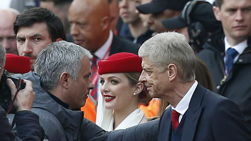 Mourinho happy Arsenal fans can smile after meeting his team