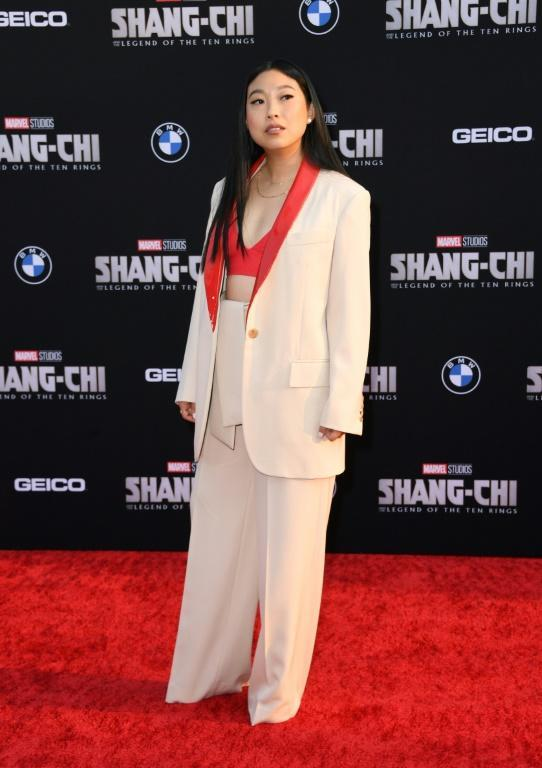 Actress and rapper Awkwafina plays the affable sidekick Katy, whose best friend Shaun (Simu Liu) is actually a trained assassin (AFP/VALERIE MACON)