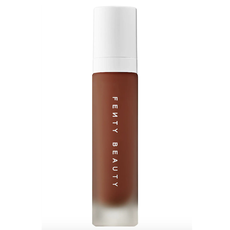 "<p>When Rihanna <a href=""https://www.allure.com/review/fenty-beauty-by-rihanna-pro-filtr-soft-matte-longwear-foundation?mbid=synd_yahoo_rss"" rel=""nofollow noopener"" target=""_blank"" data-ylk=""slk:dropped the"" class=""link rapid-noclick-resp"">dropped the</a> Fenty Beauty Pro Filt'r Soft Matte Longwear Foundation it <a href=""https://www.allure.com/story/to-rihanna-with-love-best-of-beauty-cover?mbid=synd_yahoo_rss"" rel=""nofollow noopener"" target=""_blank"" data-ylk=""slk:paved a way"" class=""link rapid-noclick-resp"">paved a way</a> for beauty brands to become more shade inclusive. It also has an insanely good formula that's never cakey and doesn't let any shine come through. Tommy suggests applying this formula in dots around the face a blending it out with your favorite foundation brush. </p> <p>We also love how it's resistant to humidity and sweat, making it ideal for hot days spent… in front of your radiator. </p> <p><strong>$35</strong> (<a href=""https://fave.co/2K24lnd"" rel=""nofollow noopener"" target=""_blank"" data-ylk=""slk:Shop Now"" class=""link rapid-noclick-resp"">Shop Now</a>)</p>"