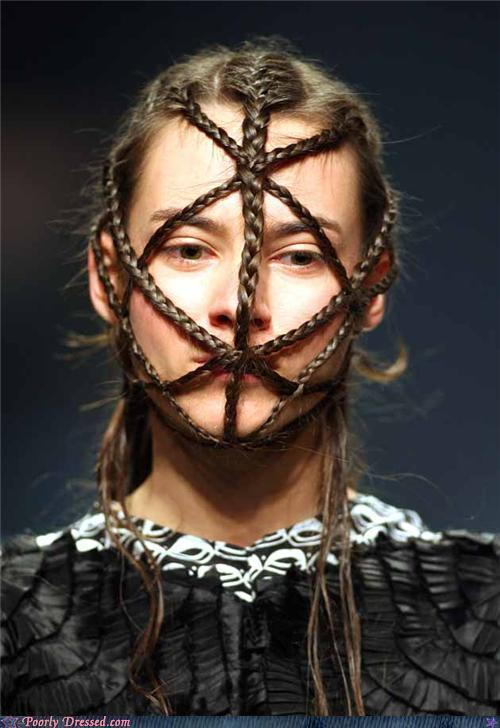 """<div class=""""caption-credit""""> Photo by: poorlydressed.failblog.org</div>The Braided Face Look"""