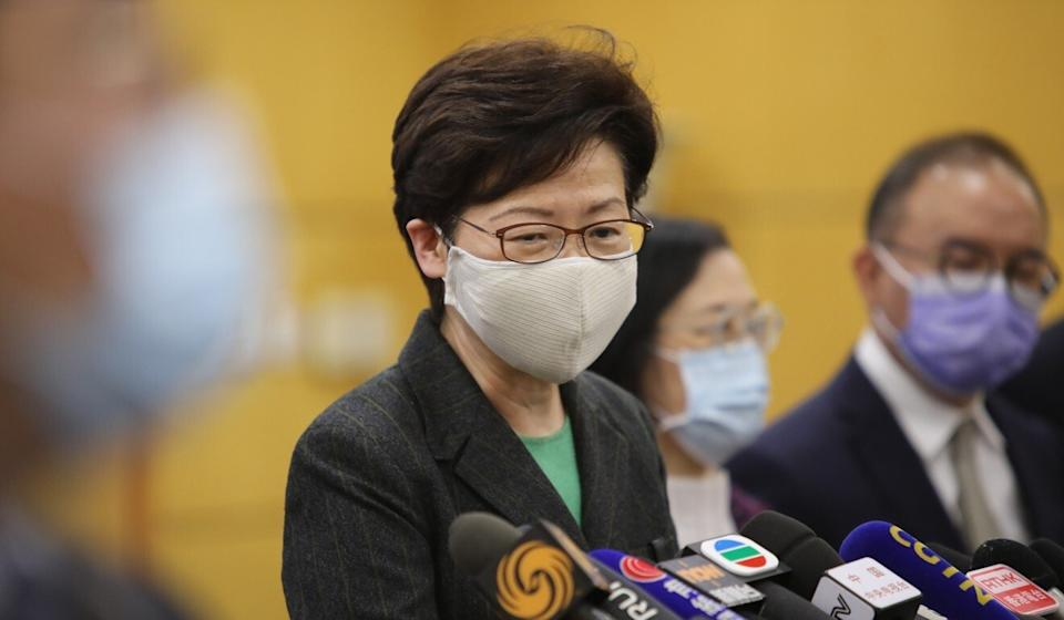 Carrie Lam was in Beijing for meetings with officials. Photo: Simon Song