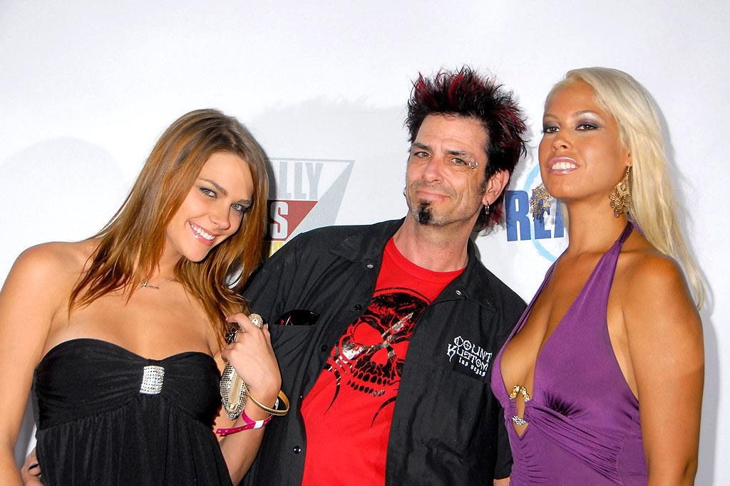 """""""Big Brother 8"""" champ Evil Dick Donato was accompanied by not one, but two dates who enjoyed posing for a camera a little too much. Barry King/<a href=""""http://www.wireimage.com"""" target=""""new"""">WireImage.com</a> - September 24, 2008"""
