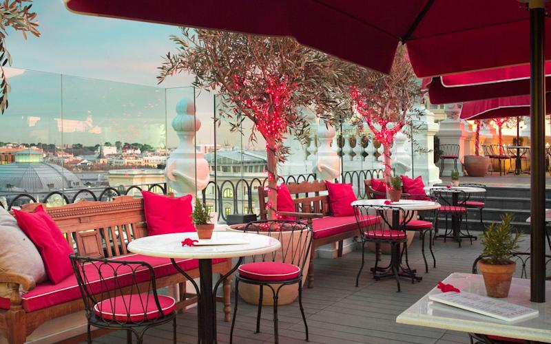 The highly coveted rooftop terrace at The Principal hotel.