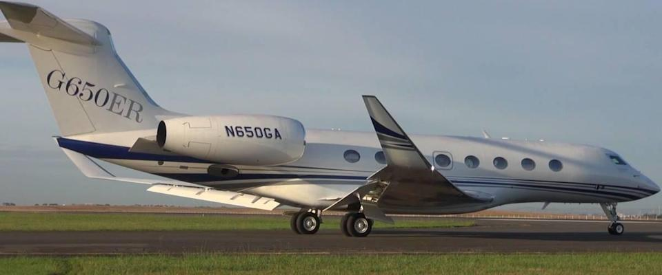 Jeff Bezos owns a Gulfstream G-650ER, like this.