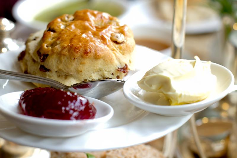 Jam should be slathered on your scone before cream, the nation rules [Photo: Getty]