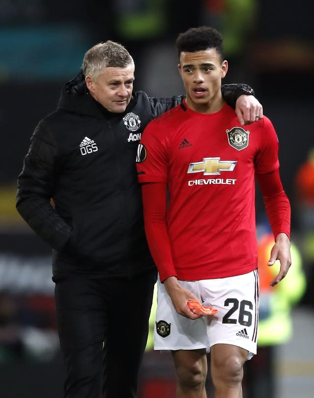 Greenwood has thanked Manchester United boss Ole Gunnar Solskjaer for his support