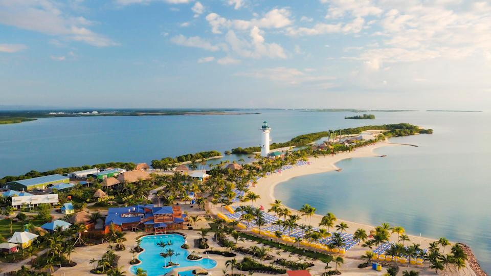 Visiting Harvest Caye with Norwegian Cruise Line