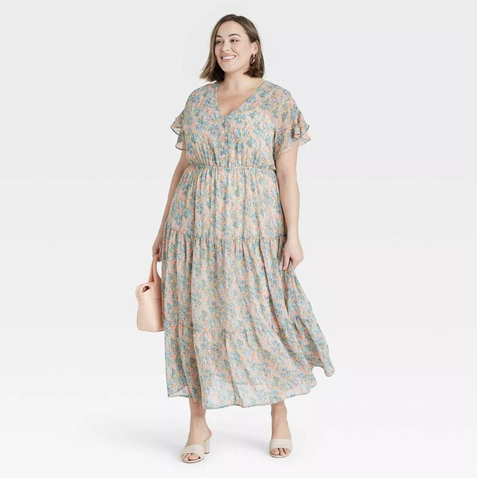<p>This <span>Ava &amp; Viv Flutter Short Sleeve Chiffon Dress</span> ($35) oozes effortless style and feminine confidence.</p>