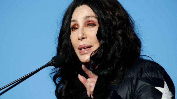 PHOTO: Cher speaks during the Women's March 'Power to the Polls' voter registration tour, Jan. 21, 2018, in Las Vegas. (Sam Morris/Getty Images)