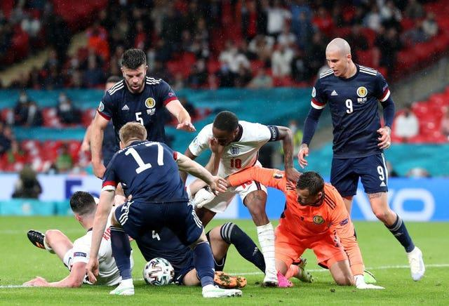 England could not make the breakthrough against a stubborn Scotland outfit at Wembley