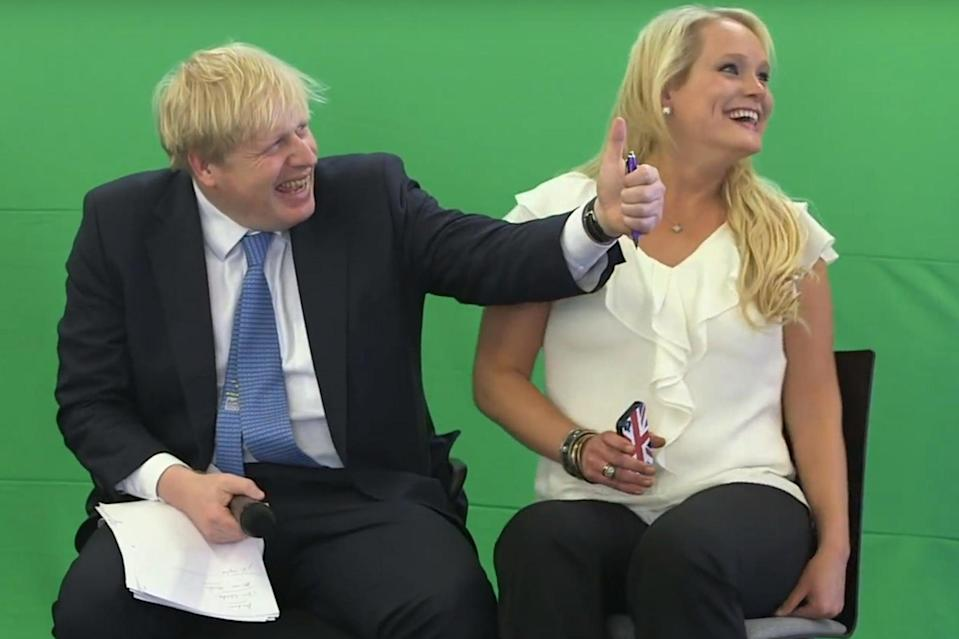 Jennifer Arcuri with Boris Johnson at the Innotech conference in 2013