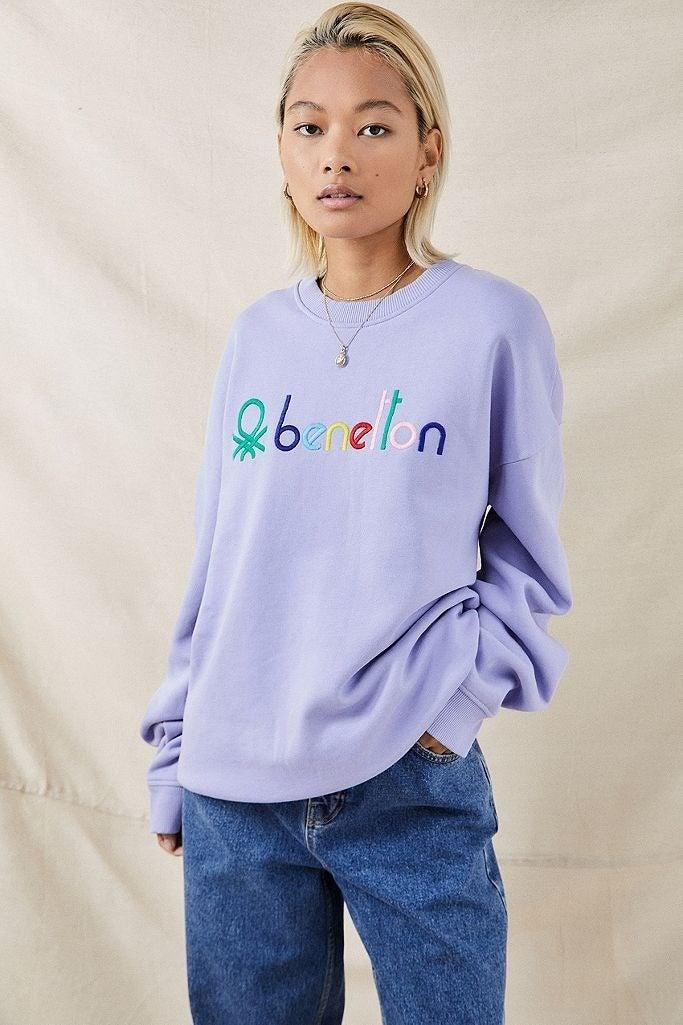 "I've made it my mission this autumn to build up my collection of sweatshirts (which currently resides at one). This lilac Benetton number would be perfect with jeans and trainers on a chilly day out, and even better with joggers for a Saturday on the sofa.<br><br><strong>United Colors Of Benetton</strong> Lilac Crew Neck Sweatshirt, $, available at <a href=""https://www.urbanoutfitters.com/en-gb/shop/benetton-lilac-crew-neck-sweatshirt?"" rel=""nofollow noopener"" target=""_blank"" data-ylk=""slk:Urban Outfitters"" class=""link rapid-noclick-resp"">Urban Outfitters</a>"