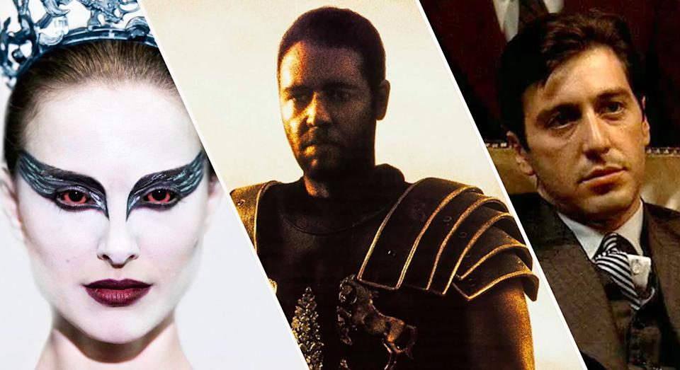 The stars of Black Swan, Gladiator and The Godfather all suffered for their art. (20th Century Fox/Universal/Paramount)