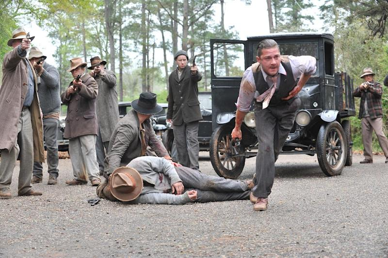 "This film image released by The Weinstein Company shows Shia LaBeouf, right, in a scene from ""Lawless."" (AP Photo/The Weinstein Company, Richard Foreman, Jr.)"