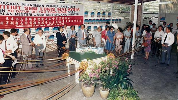 A charity lottery was carried out in 1986 to raise funds to build a new campus in Kemensah Heights. ― Picture courtesy of MIA