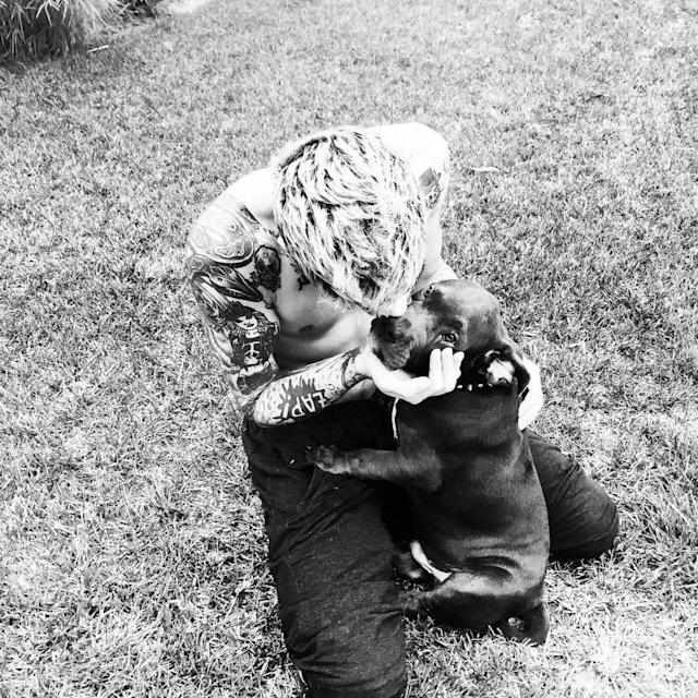 "<p>10. Move over, kittens. Zayn's pooch, Rhino, is just too cute. (Photo: <a href=""https://www.instagram.com/p/788l2LJqUO/?hl=en&taken-by=zayn"" rel=""nofollow noopener"" target=""_blank"" data-ylk=""slk:Zayn Malik via Instagram"" class=""link rapid-noclick-resp"">Zayn Malik via Instagram</a>) </p>"