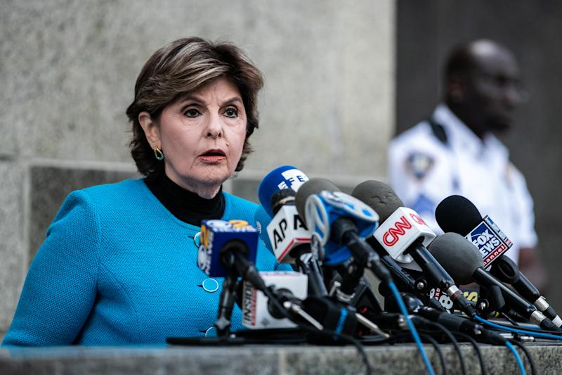Attorney Gloria Allred speaks at a news conference after film producer Harvey Weinstein's arraignment in his sexual assault case in New York, U. S., August 26, 2019. REUTERS/Jeenah Moon