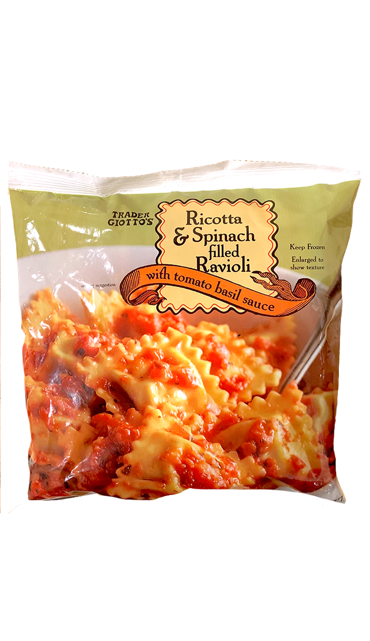 <p>I'm partial to Trader Joe's fresh ravioli (find them near the deli meats and cheeses), but these are pretty solid too. It comes with ravioli pieces and frozen blocks of tomato sauce which melt out pretty quickly and evenly. Plus, you can get three to four meals out of it if you add a protein.</p>