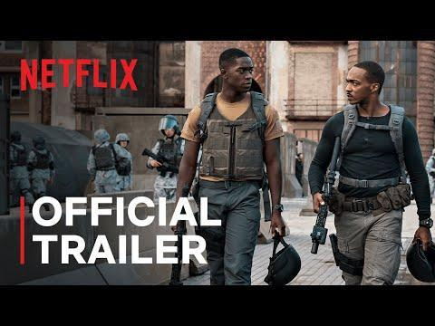 """<p>In this action-thriller set in 2036, <a href=""""https://www.menshealth.com/entertainment/a35205630/ending-of-outside-the-wire-explained-netflix/"""" rel=""""nofollow noopener"""" target=""""_blank"""" data-ylk=""""slk:Anthony Mackie"""" class=""""link rapid-noclick-resp"""">Anthony Mackie</a> stars as Captain Leo, a human-like android, desperate to stop a nuclear attack from ending the world...which is maybe not the most <em>upbeat</em> film to appear on this list, but an exciting one nonetheless. </p><p><a href=""""https://www.youtube.com/watch?v=u8ZsUivELbs"""" rel=""""nofollow noopener"""" target=""""_blank"""" data-ylk=""""slk:See the original post on Youtube"""" class=""""link rapid-noclick-resp"""">See the original post on Youtube</a></p>"""