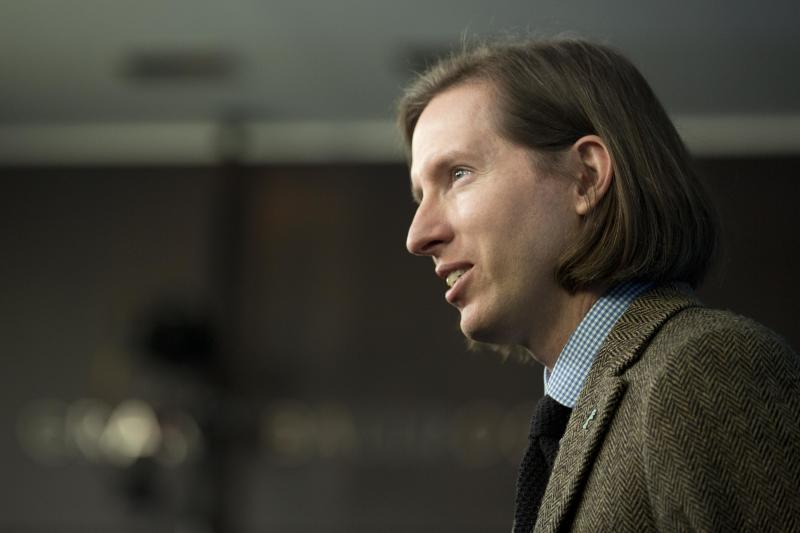 Director Wes Anderson poses for photographers at the photo call for the film The Grand Budapest Hotel during the International Film Festival Berlinale, in Berlin, Thursday, Feb. 6, 2014. (AP Photo/Axel Schmidt)