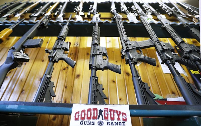 Semi-automatic AR-15s on sale at a Utah gun range