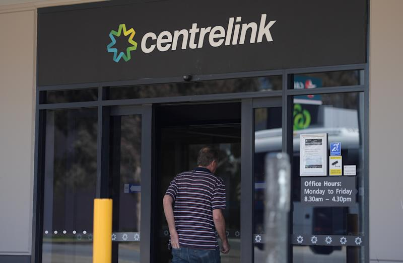 Pictured: Exterior of a Centrelink office in Adelaide. Image: AAP