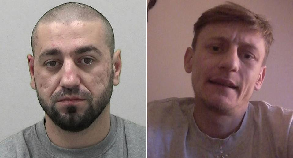 Mihai Dinisoae (left) was jailed for 10 years for the manslaughter of pillion passenger Joshua Molloy (right) after he knocked two bike thieves off his motorbike when they stole it from outside his house. (PA)