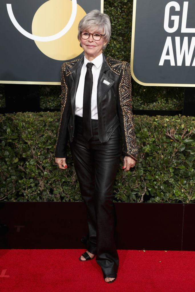<p>The <em>One Day at a Time</em> actress attends the 75th Annual Golden Globe Awards at the Beverly Hilton Hotel in Beverly Hills, Calif., on Jan. 7, 2018. (Photo: Steve Granitz/WireImage) </p>