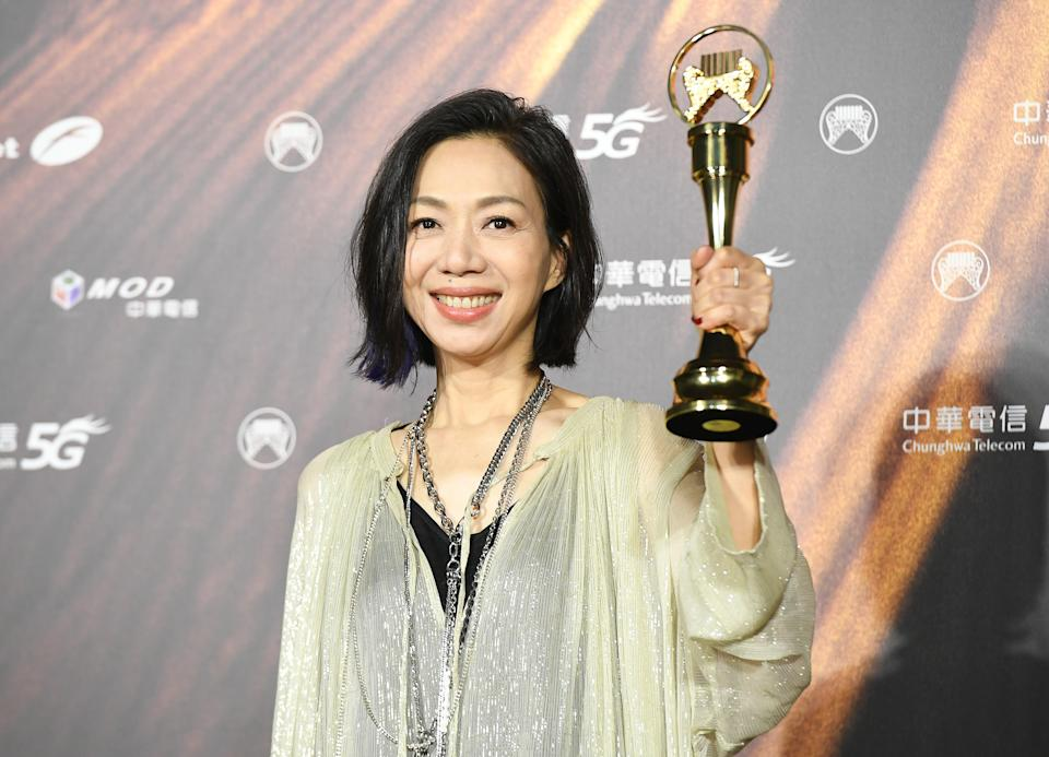 TAIPEI, TAIWAN - AUGUST 21: Singer Wan Fang (Wan Fang Lin) pose at the 32nd Golden Melody Awards Ceremony Press Room at Taipei Music Center on August 21, 2021 in Taipei, Taiwan. (Photo by Gene Wang/Getty Images)