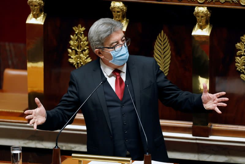 French Prime Minister Jean Castex speaks at the French National Assembly
