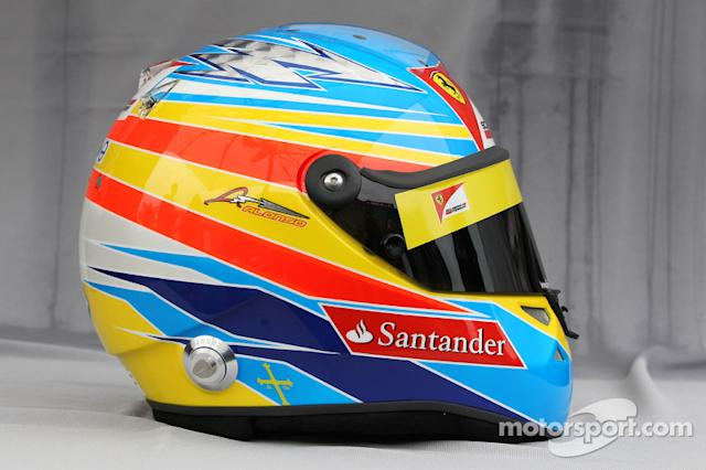 "Casco de Fernando Alonso en 2011 <span class=""copyright"">XPB Images</span>"