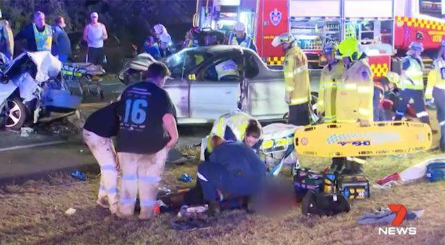Six people were seriously injured in the collision. Source: 7 News