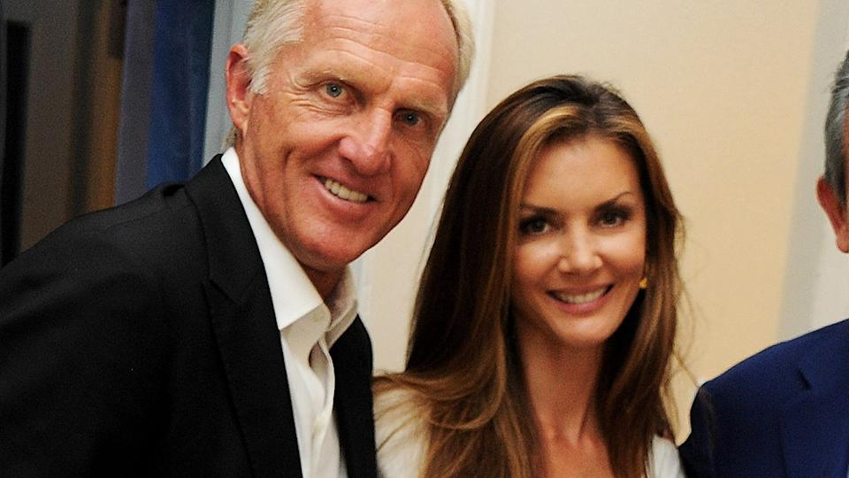 Greg Norman and wife Kirsten Kutner, pictured here at OMEGA House in 2012.