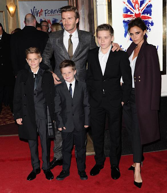 Victoria Beckham 'Ditches Spice Girls To Sit With Family' At Viva Forever Premiere