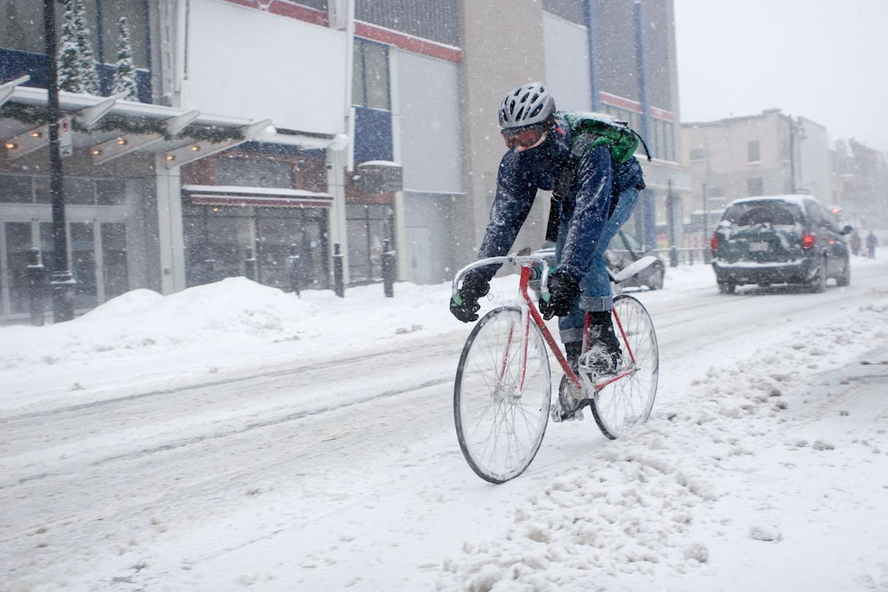 """<p>For some, snow may put a damper on your weekend plans. Perk yourself up by looking forward to some new cycling gear from REI's January Clearance sale.</p><p>The outdoor retailer is offering <a href=""""https://www.rei.com/s/deals"""" target=""""_blank"""">up to 50 percent off</a> on tons of outdoor gear right now—including a lot of <a href=""""https://www.rei.com/s/deals?ir=collection%3Adeals&r=category%3Acycling"""" target=""""_blank"""">cycling gear</a>. This means you can get some of your favorite jackets, bikes, wheelsets, components, and much more from great brands like Pearl Izumi, Gore, and Shimano.</p><p>This deal doesn't last forever so you better act now before it's too late. </p>"""