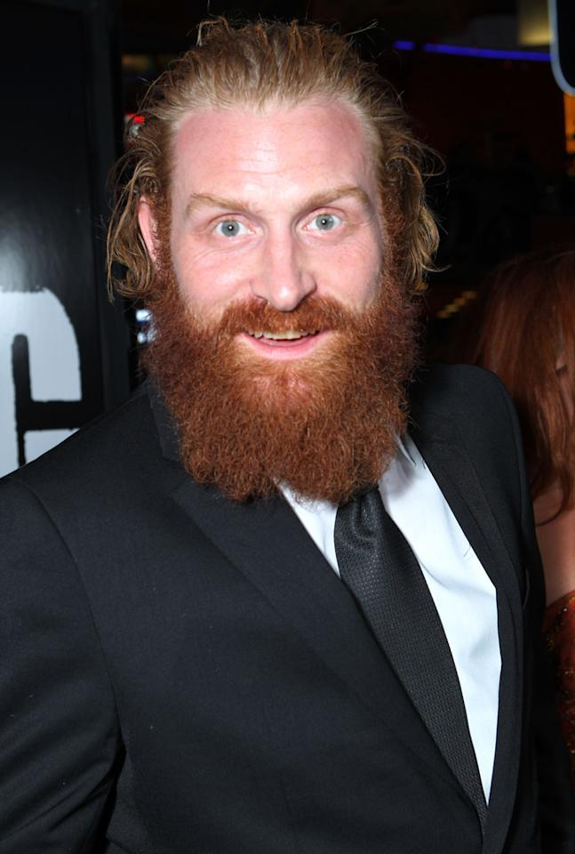 """<b>Kristofer Hivju as Tormund Giantsbane</b><br><br>A famed wildling warrior and chief lieutenant of the """"King Beyond the Wall,"""" Mance Rayder, Tormund is fearsome and strong, with a large build and a beard to match."""