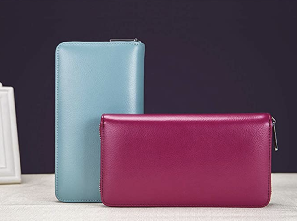 This stylish wallet is available in eight colors. (Photo: Amazon)