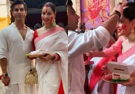 Bipasha Basu shares moments from first 'Sindur Khela' after marriage