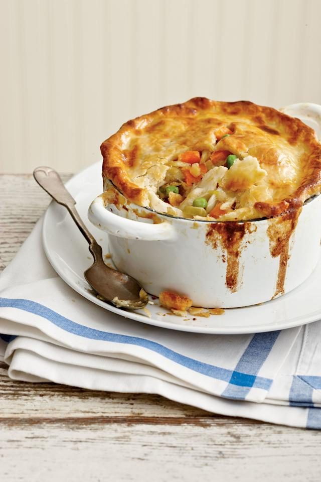 "<p>Just a bit of fresh lemon zest and seafood seasoning adds a big boost of flavor.</p> <ul><li><strong>Recipe:</strong> <a href=""https://www.coastalliving.com/syndication/crab-pot-pie"">Crab Pot Pie</a></li> </ul>"