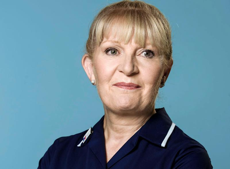 Cathy Shipton has played nurse Duffy for 33 years (Credit: BBC)