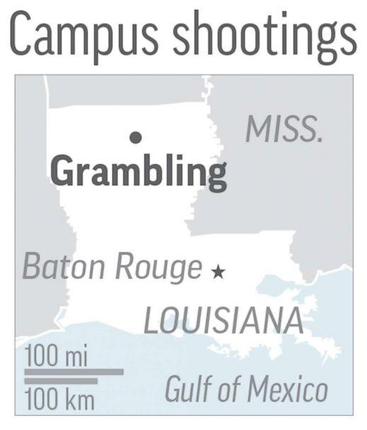 Grambling State University Campus Map.Suspect At Large After 2 Shot Dead On Grambling State University Campus