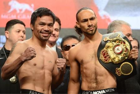 Boxing: Pacquiao vs Thurman-Weigh Ins