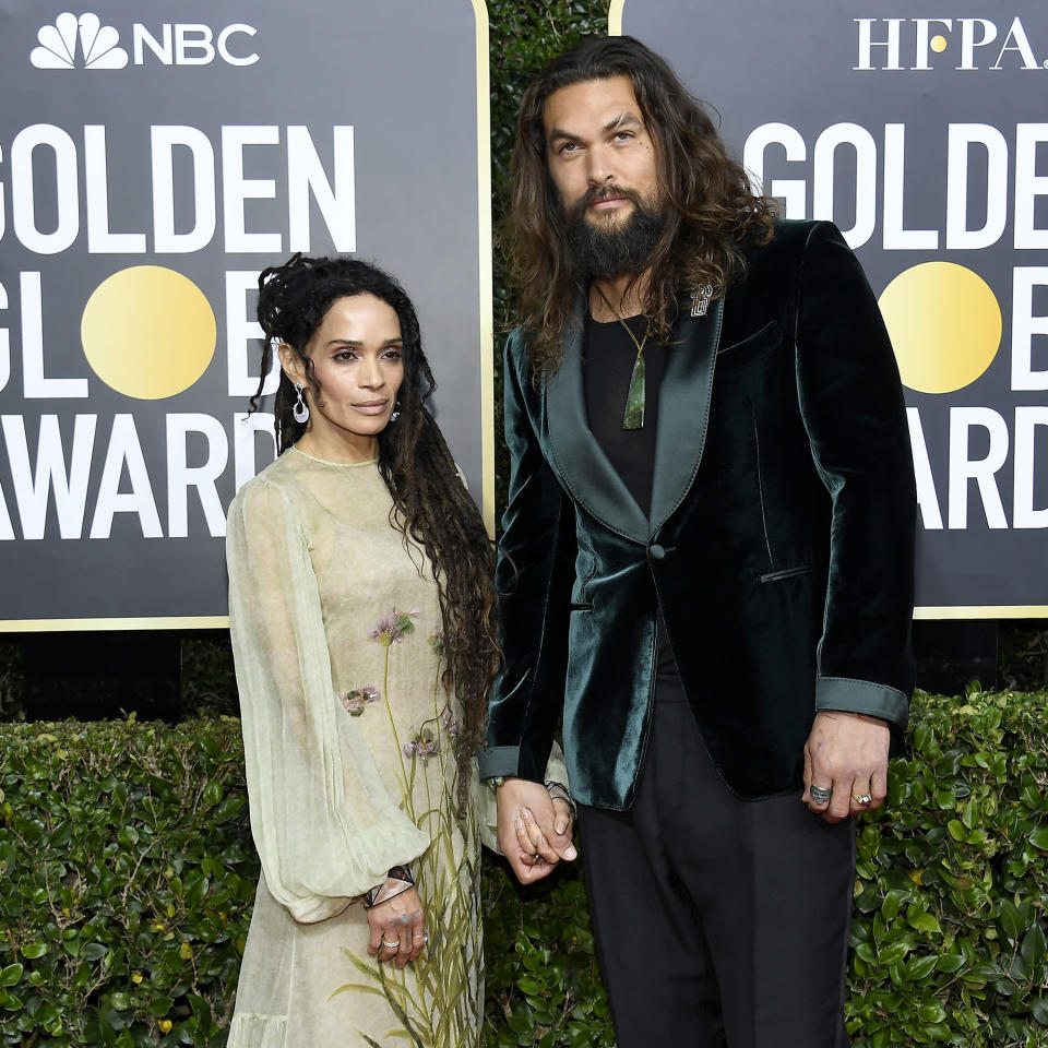 Lisa Bonet and Jason Momoa at 2020 Golden Globes (Kevork Djansezian / NBC)