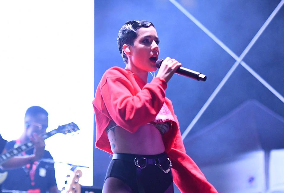 <p>Halsey performs in early 2020</p> (Getty Images for BudX)