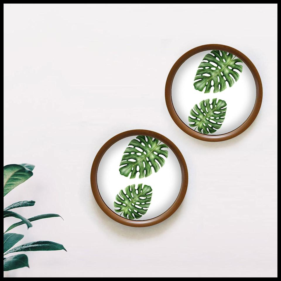 "An ode to travels across South East Asia, the <a href=""https://fave.co/2MIf1ES"">Monstera Decorative Wall Hanging</a> is part of Cyahi's Rainforest collection. Measuring 10 inches in diameter, it's made from reclaimed wood. <em>Rs. 1,199 each on offer.</em>"