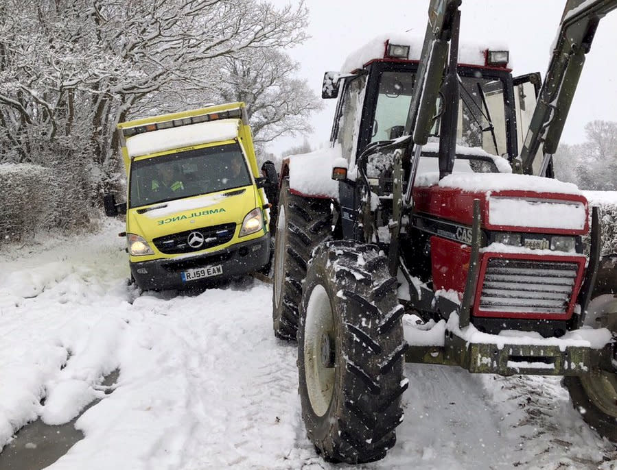 <p>The Garden of England seems to have been hit the worst by the Beast from the East – with mass school closures and travel chaos brought on by snow. (SWNS) </p>