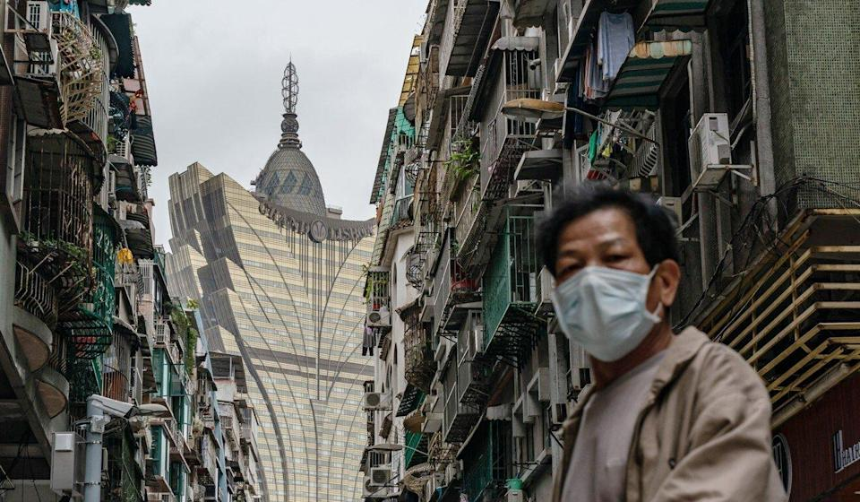 A Macau street with the Grand Lisboa Hotel in the background. Photo: Getty Images